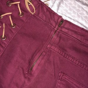 Cotton On Shorts - Cotton On maroon high waisted shorts!